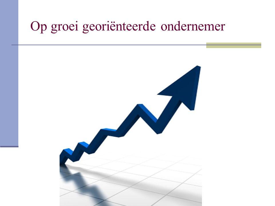Op groei georiënteerde ondernemer