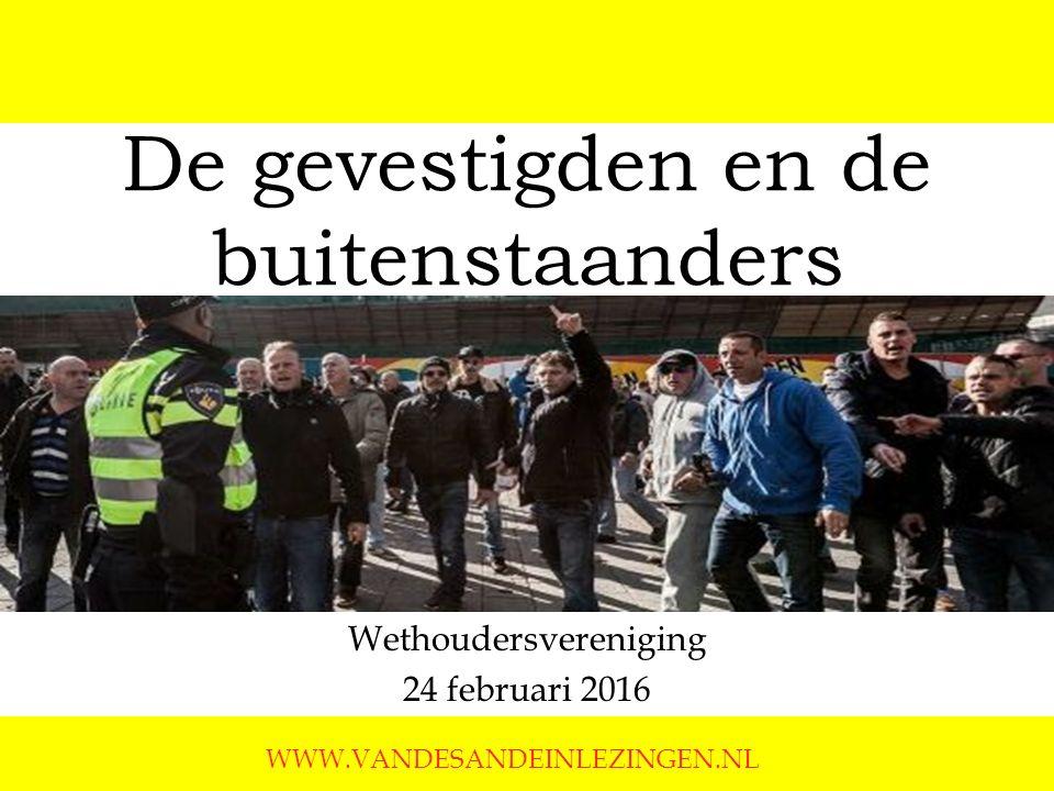De gevestigden en de buitenstaanders Wethoudersvereniging 24 februari 2016 WWW.VANDESANDEINLEZINGEN.NL