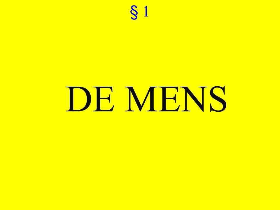 ©vandeSandeinlezingen,2011 § 1 DE MENS