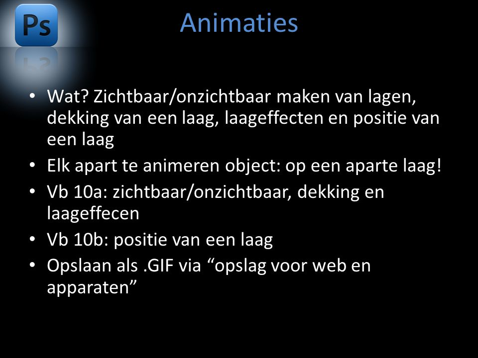 Animaties Wat.
