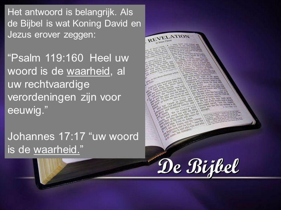 De Bijbel Het antwoord is belangrijk.
