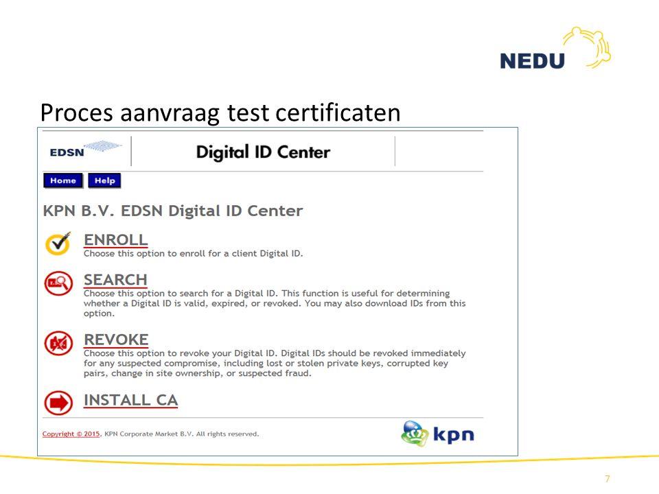 Proces aanvraag test certificaten 7