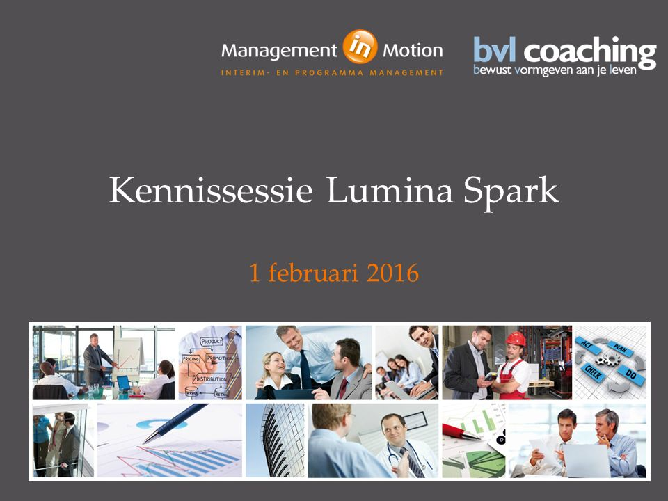 Kennissessie Lumina Spark 1 februari 2016