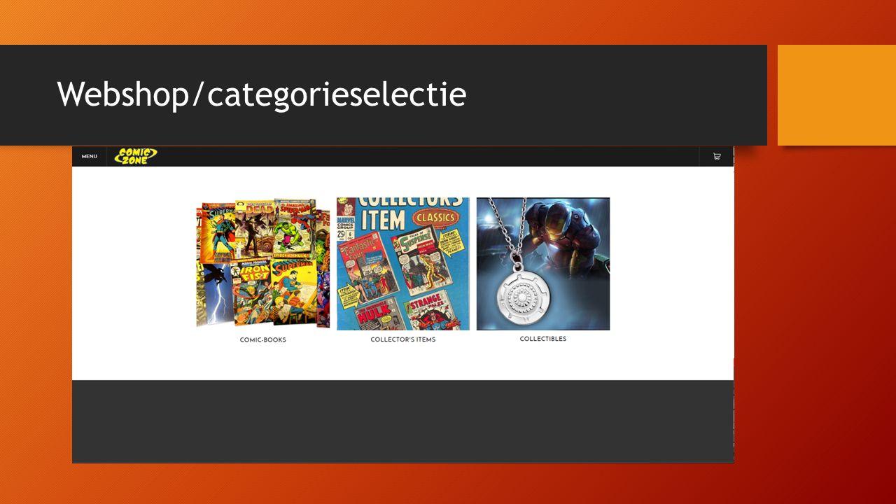 Webshop/categorieselectie