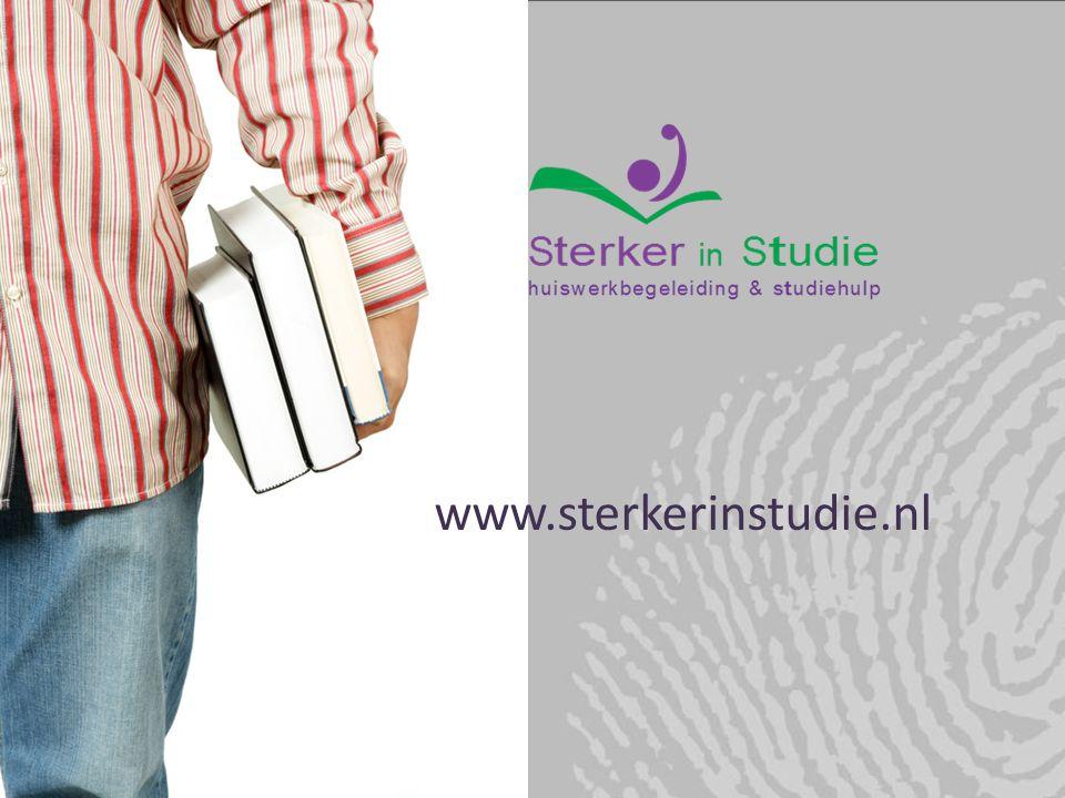 27-2-2016 www.sterkerinstudie.nl