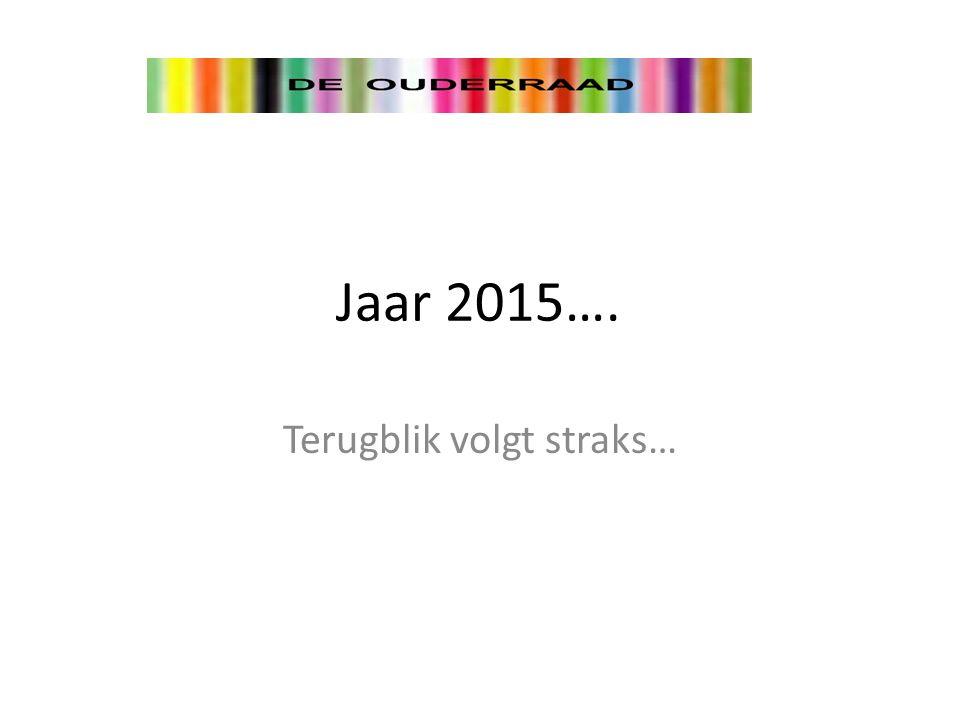 Jaar 2015…. Terugblik volgt straks…