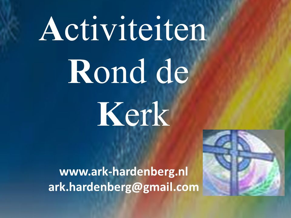 www.ark-hardenberg.nl – ark.hardenberg@gmail.com In verband met het slechte weer (en de slechte voorspelling) afgelopen 25 mei, hebben wij de rommelmARKt.