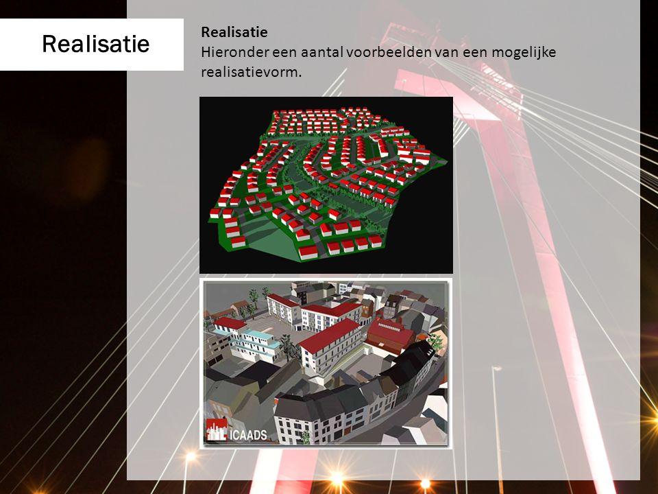 Realisatie Hieronder een aantal voorbeelden van een mogelijke realisatievorm.