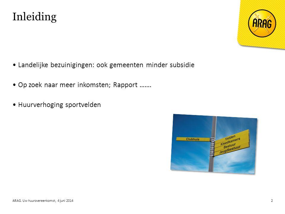 Huurovereenkomst Indexeringsclausule Tarievenbesluit Opzegging ARAG.