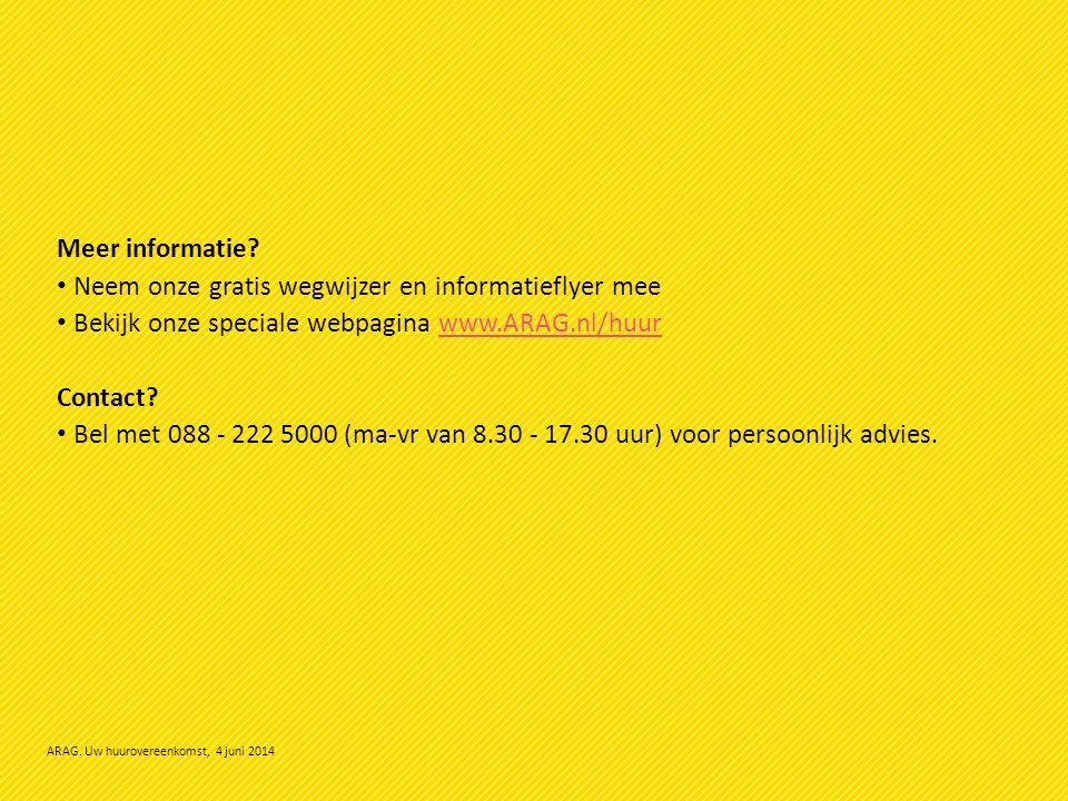 ARAG. Uw huurovereenkomst, 4 juni 2014 Meer informatie.