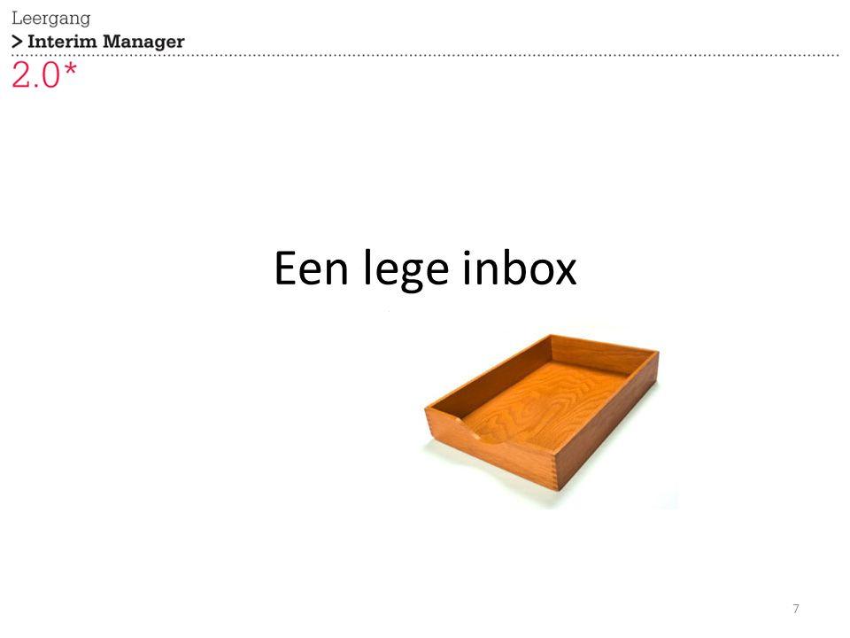 Een lege inbox 7