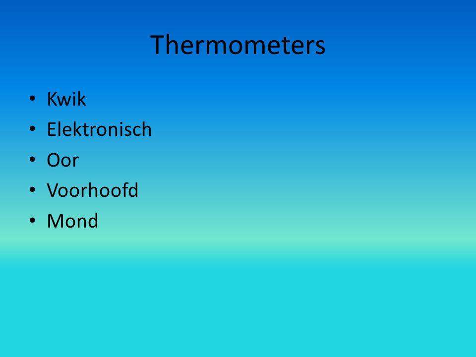 Thermometers Kwik Elektronisch Oor Voorhoofd Mond