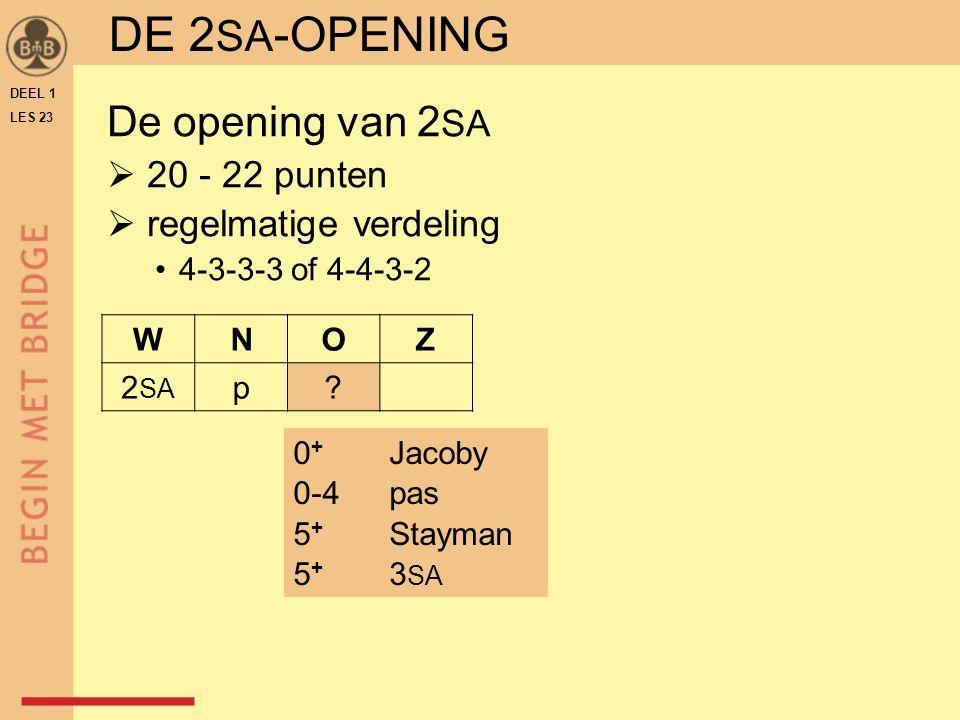 DEEL 1 LES 23 DE 2 SA -OPENING WNOZ 2 SA p.