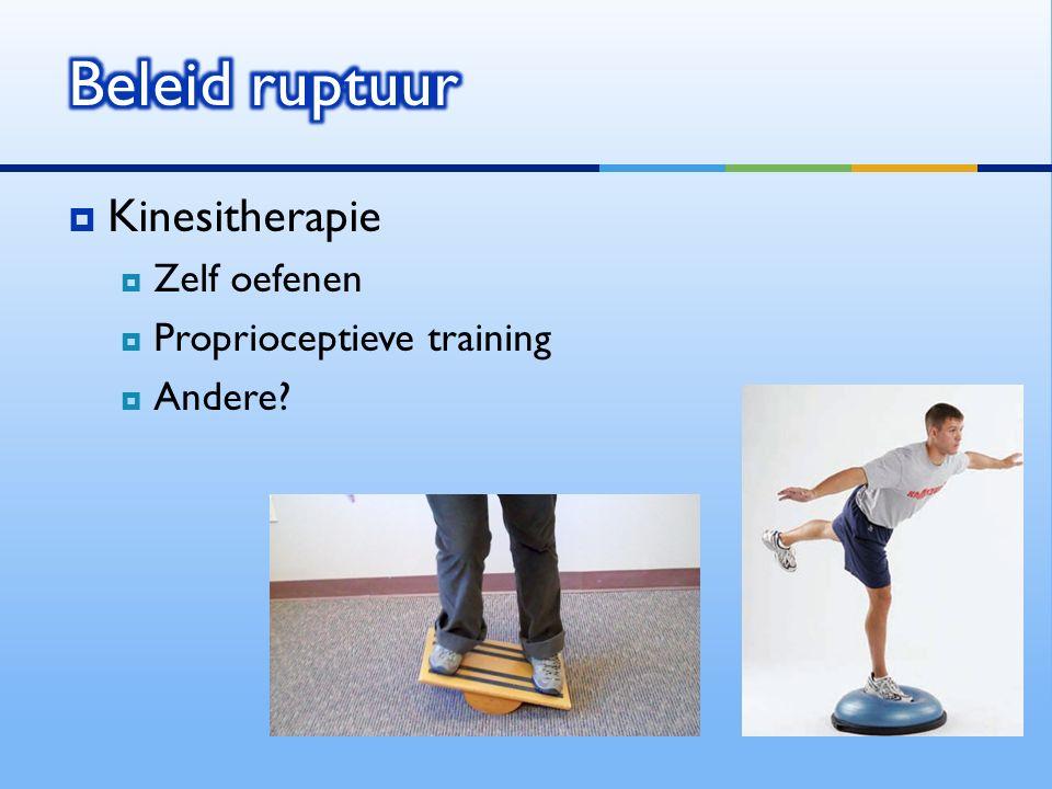  Kinesitherapie  Zelf oefenen  Proprioceptieve training  Andere?