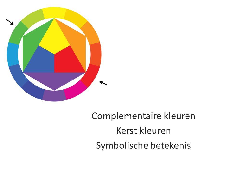 Complementaire kleuren Kerst kleuren Symbolische betekenis