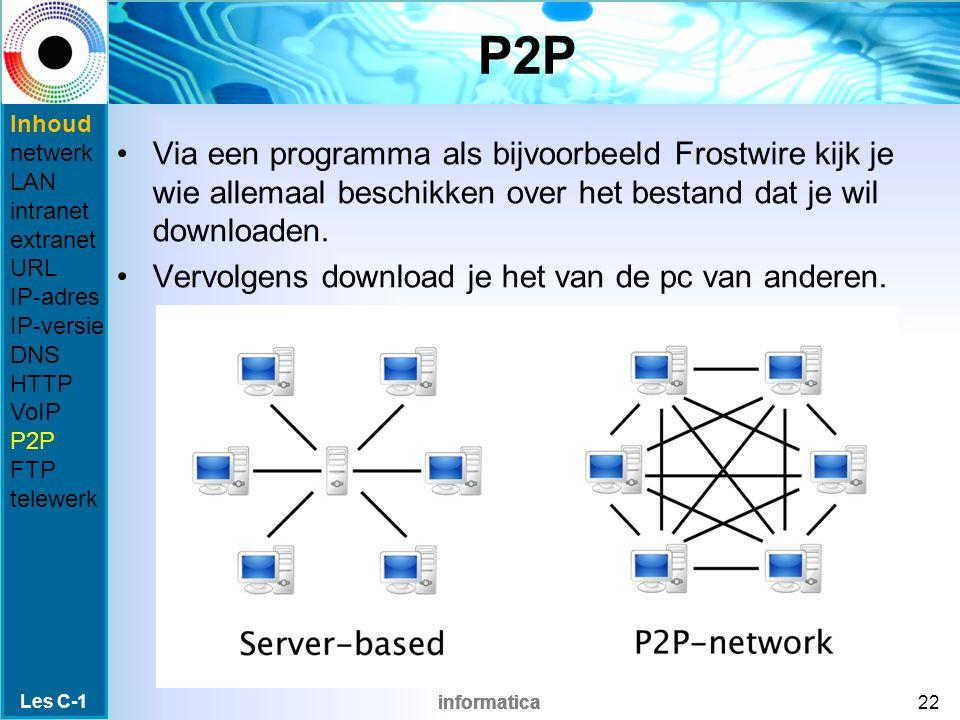 informatica P2P Via een programma als bijvoorbeeld Frostwire kijk je wie allemaal beschikken over het bestand dat je wil downloaden.