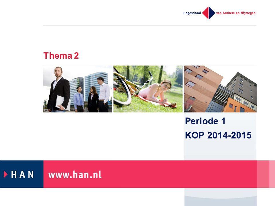 Thema 2 Periode 1 KOP 2014-2015