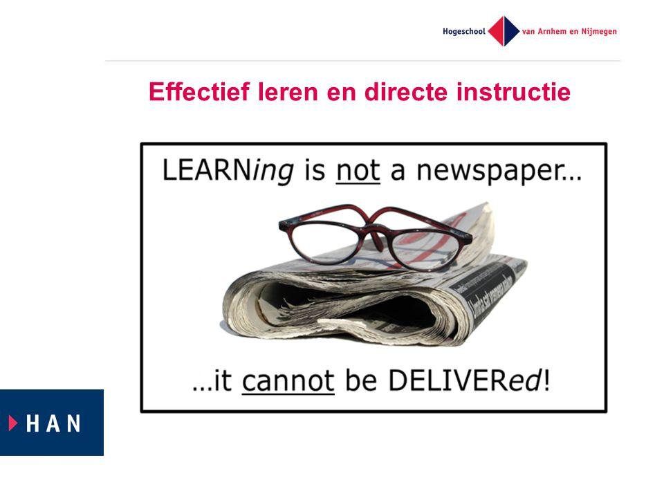 Effectief leren en directe instructie