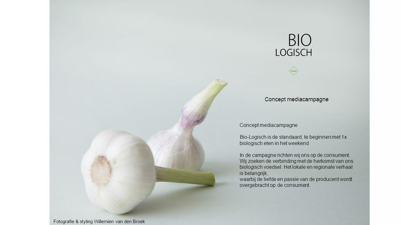 Concept mediacampagne Bio-Logisch is de standaard, te beginnen met 1x biologisch eten in het weekend In de campagne richten wij ons op de consument.