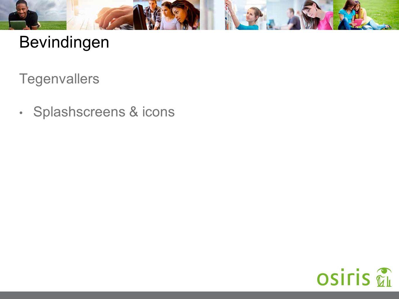 Bevindingen Tegenvallers Splashscreens & icons