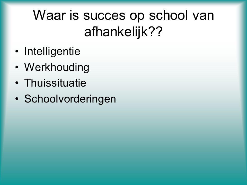 Waar is succes op school van afhankelijk .