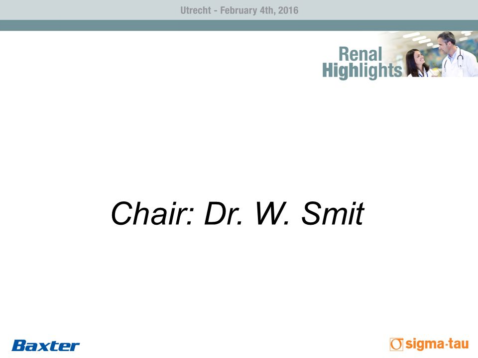 Chair: Dr. W. Smit