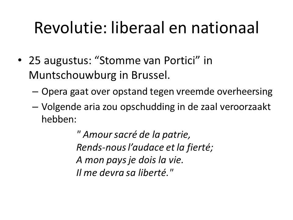 """Revolutie: liberaal en nationaal 25 augustus: """"Stomme van Portici"""" in Muntschouwburg in Brussel. – Opera gaat over opstand tegen vreemde overheersing"""