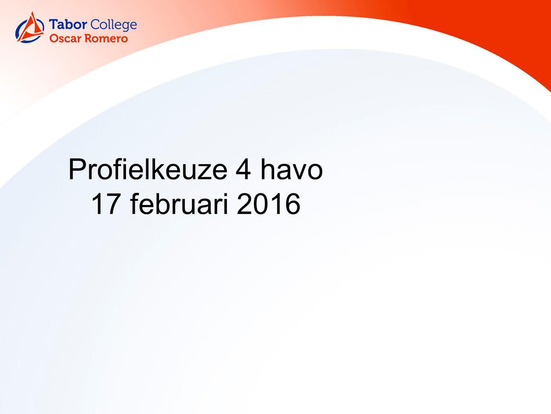 Profielkeuze 4 havo 17 februari 2016