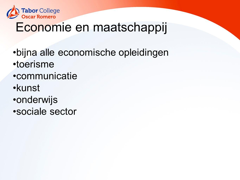 Economie en maatschappij bijna alle economische opleidingen toerisme communicatie kunst onderwijs sociale sector