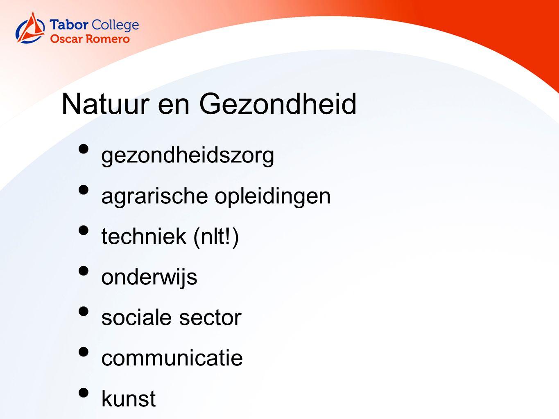 Natuur en Gezondheid gezondheidszorg agrarische opleidingen techniek (nlt!) onderwijs sociale sector communicatie kunst