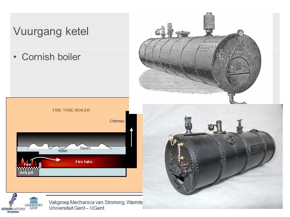 Vuurgang ketel Cornish boiler Vakgroep Mechanica van Stroming, Warmte en Verbranding – www.FloHeaCom.UGent.be Universiteit Gent – UGent