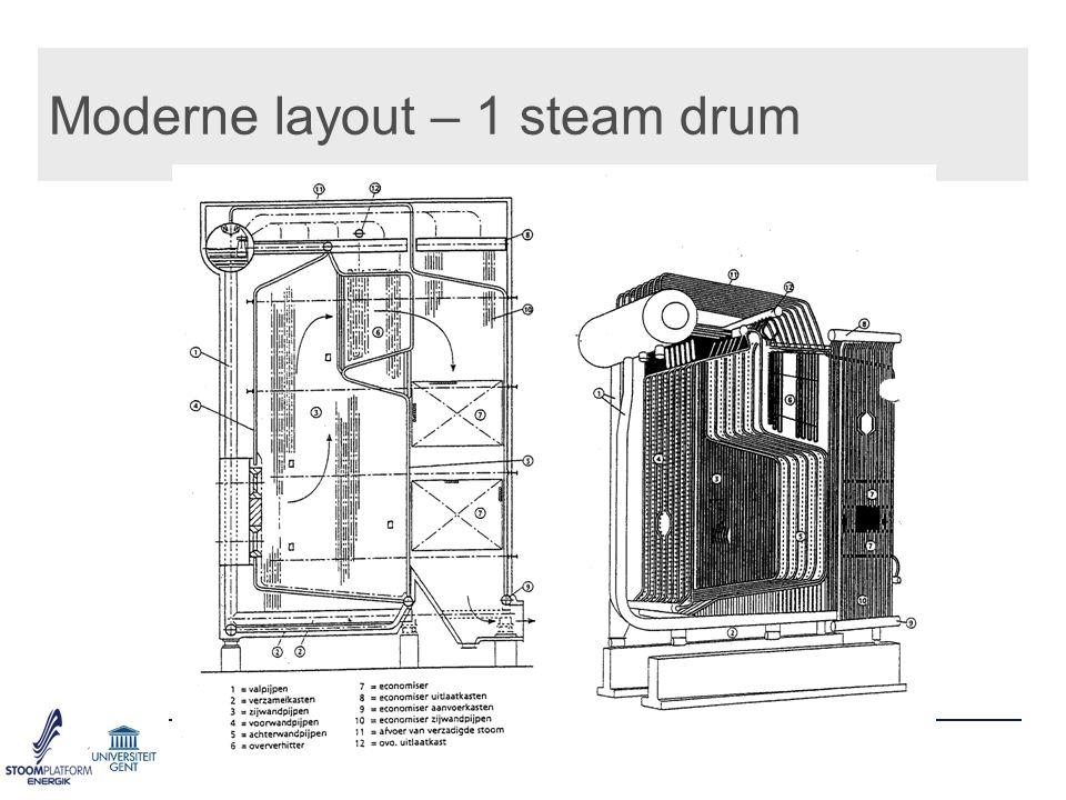 Moderne layout – 1 steam drum