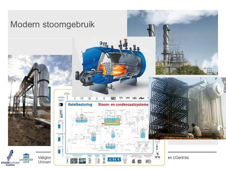 Stoom in de procestechniek Vakgroep Mechanica van Stroming, Warmte en Verbranding – www.FloHeaCom.UGent.be Universiteit Gent – UGent