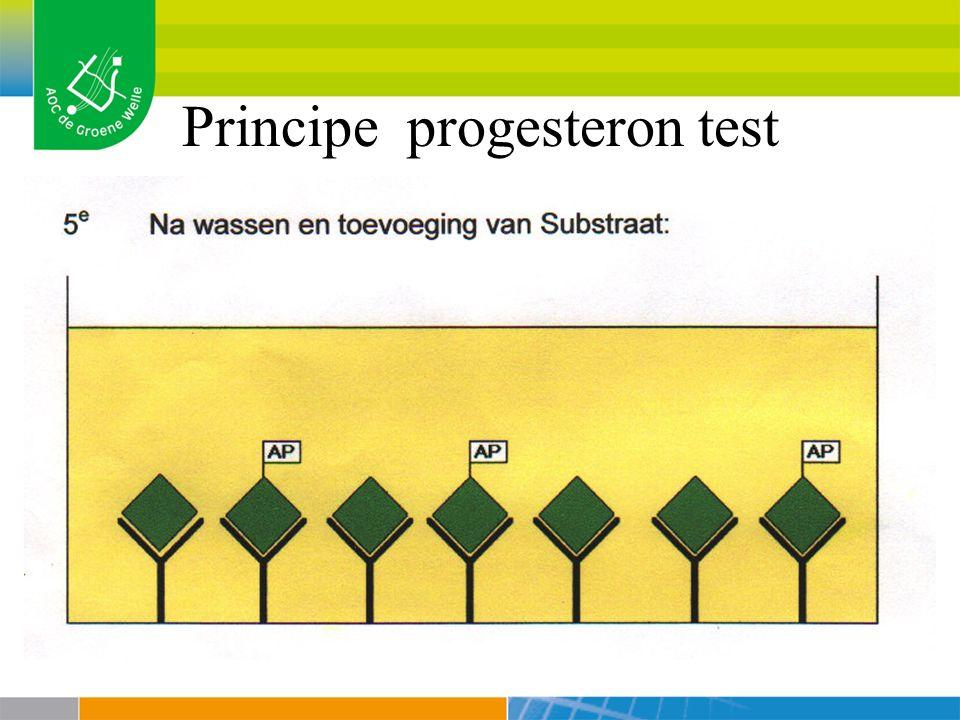 Principe progesteron test