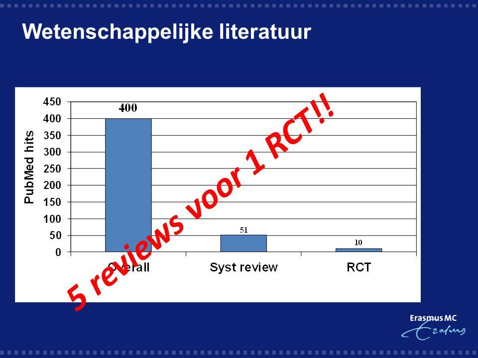 5 reviews voor 1 RCT!! Wetenschappelijke literatuur