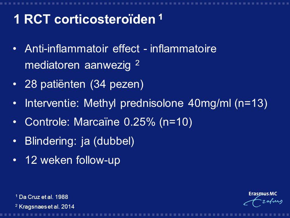 1 RCT corticosteroïden 1 1 Da Cruz et al. 1988 2 Kragsnaes et al.