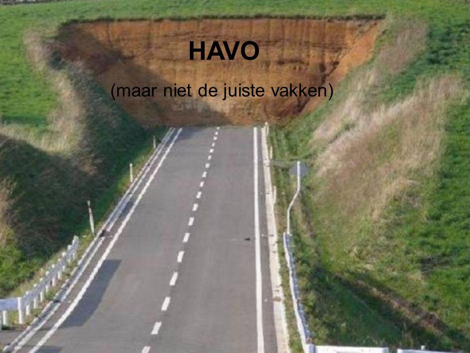 HAVO (maar niet de juiste vakken)