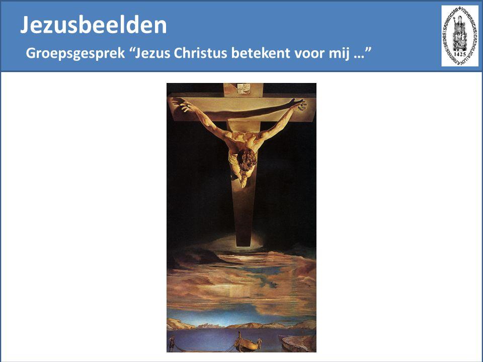 Jezusbeelden Groepsgesprek De figuur van Jezus betekent voor mij… De katholieke dialoogschool wordt gekenmerkt door een preferentiële relatie tot de christelijke traditie.