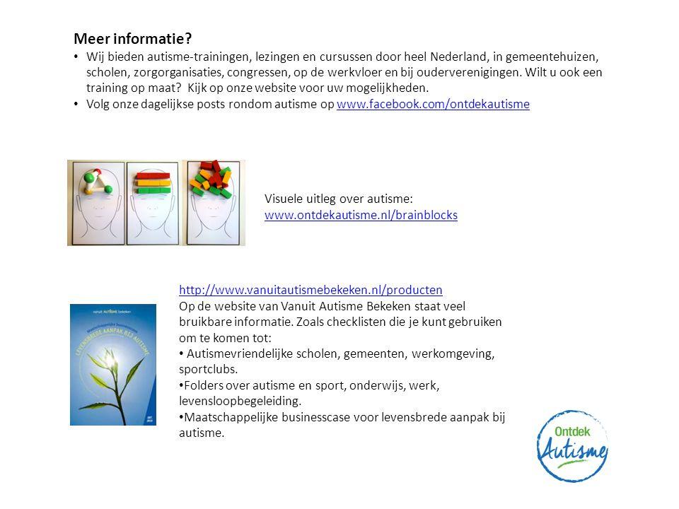 Meer informatie? Wij bieden autisme-trainingen, lezingen en cursussen door heel Nederland, in gemeentehuizen, scholen, zorgorganisaties, congressen, o