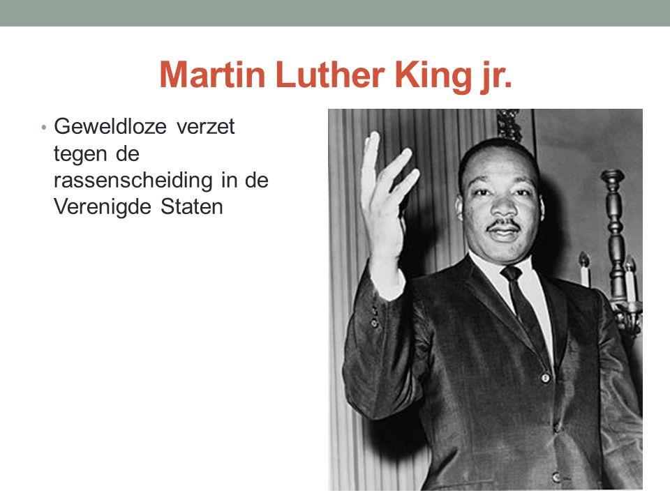 Martin Luther King jr. Geweldloze verzet tegen de rassenscheiding in de Verenigde Staten