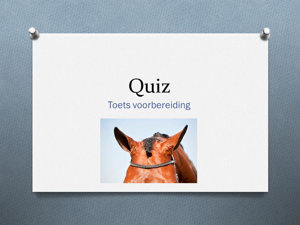 Quiz Toets voorbereiding