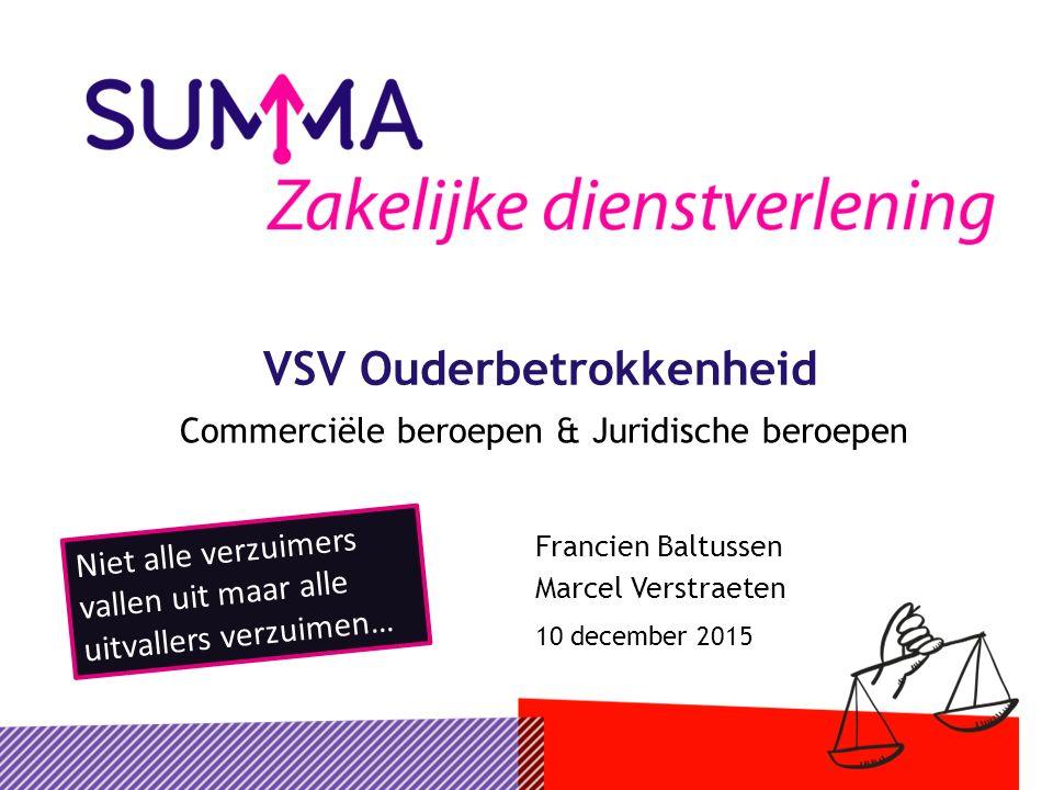 1310 december 2015VSV Ouderbetrokkenheid De beloning…..