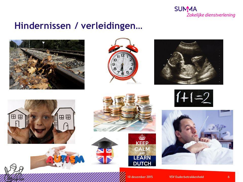 610 december 2015VSV Ouderbetrokkenheid Hindernissen / verleidingen…