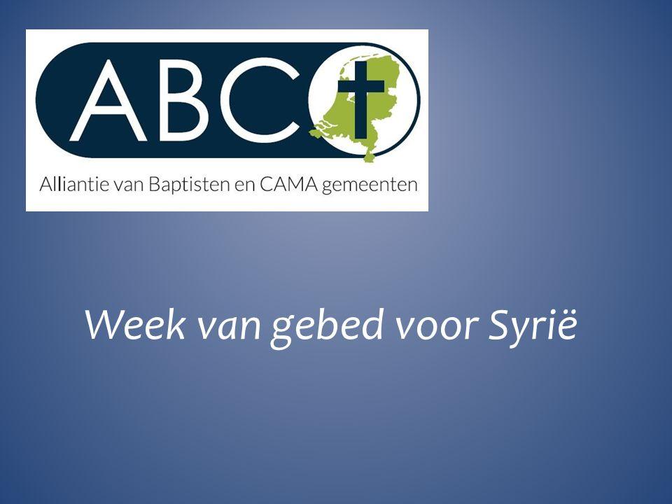 Week van gebed voor Syrië