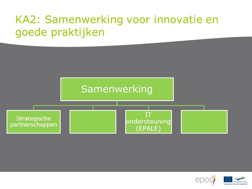 KA2: Samenwerking voor innovatie en goede praktijken Samenwerking Strategische partnerschappen IT ondersteuning (EPALE)