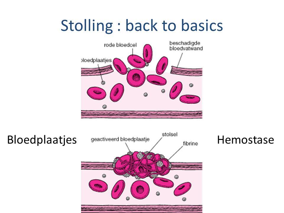 Stolling : back to basics BloedplaatjesHemostase