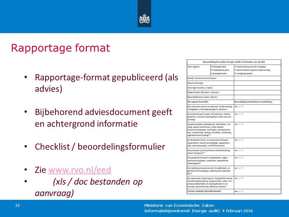 Is de deadline van 5 december haalbaar en reëel Ministerie van Economische Zaken 16 Relevant is dat vanuit het Rijk recent een lijst van 6000 potentiele (concern)bedrijven in Nederland, op adresniveau, beschikbaar is voor bevoegde gezagen.