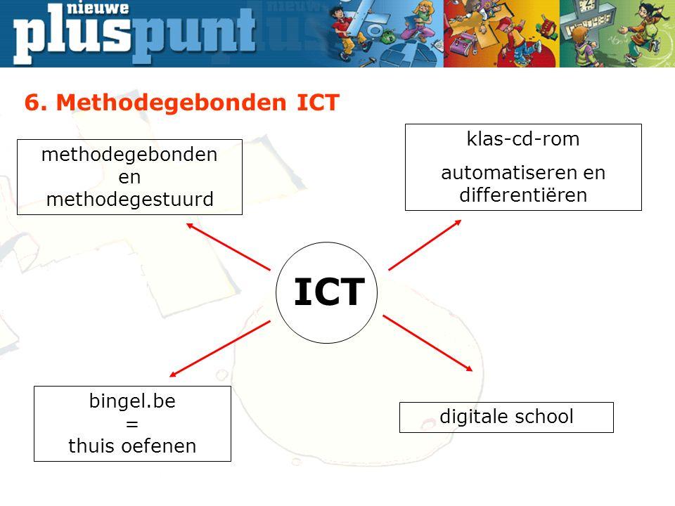 ICT bingel.be = thuis oefenen methodegebonden en methodegestuurd klas-cd-rom automatiseren en differentiëren digitale school 6.