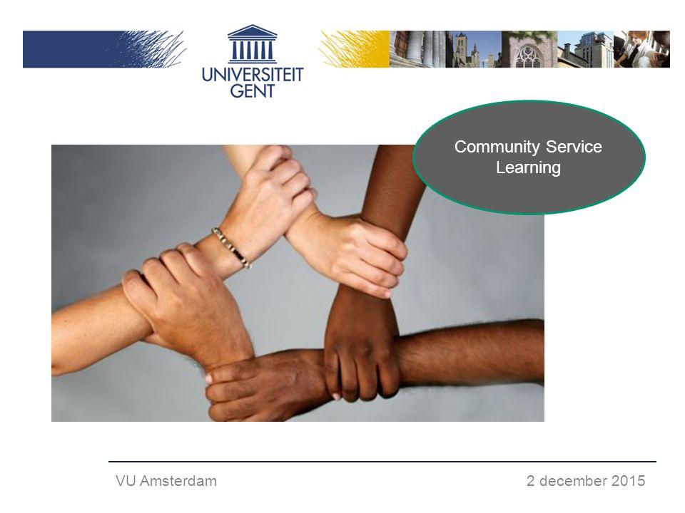 Community Service Learning VU Amsterdam 2 december 2015