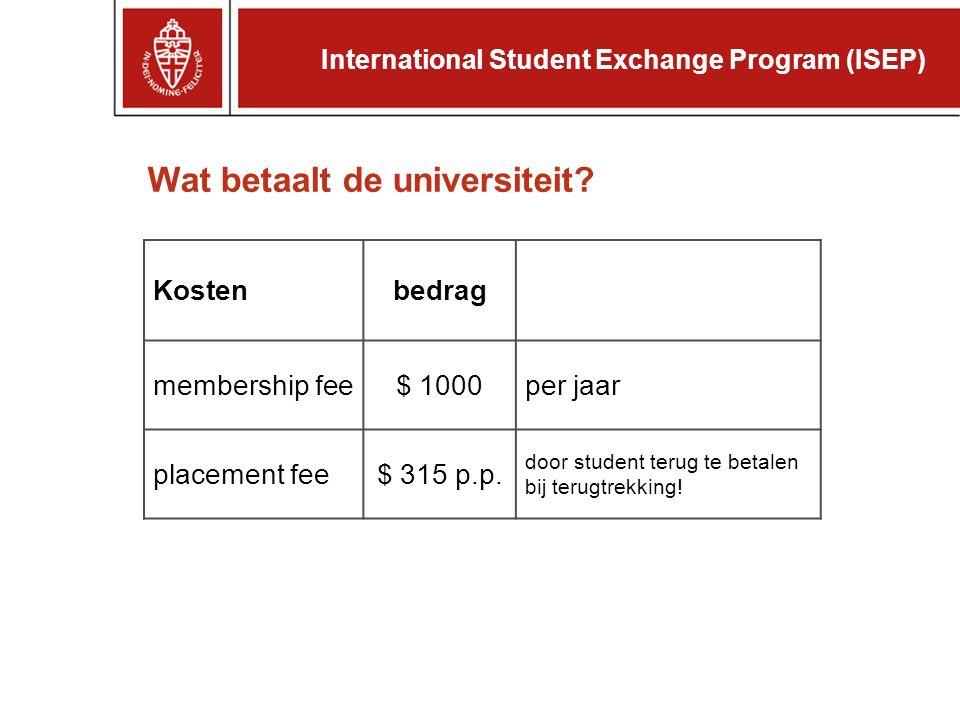 Wat betaalt de student.Kostenbedrag collegegeld Nijmegen€ 1496 (2005/06) vliegticket.....
